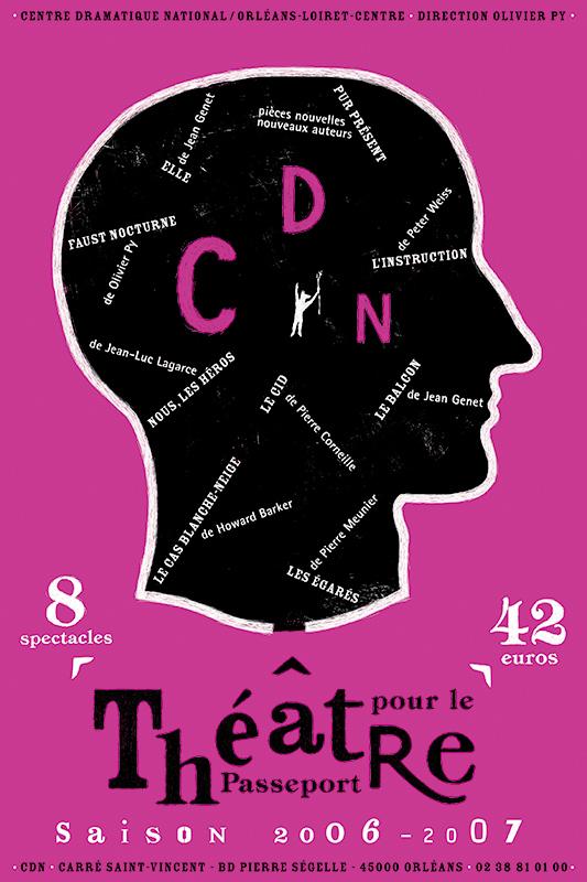 Affiche Poster CDN Orléans - Ouverture saison 2006-07