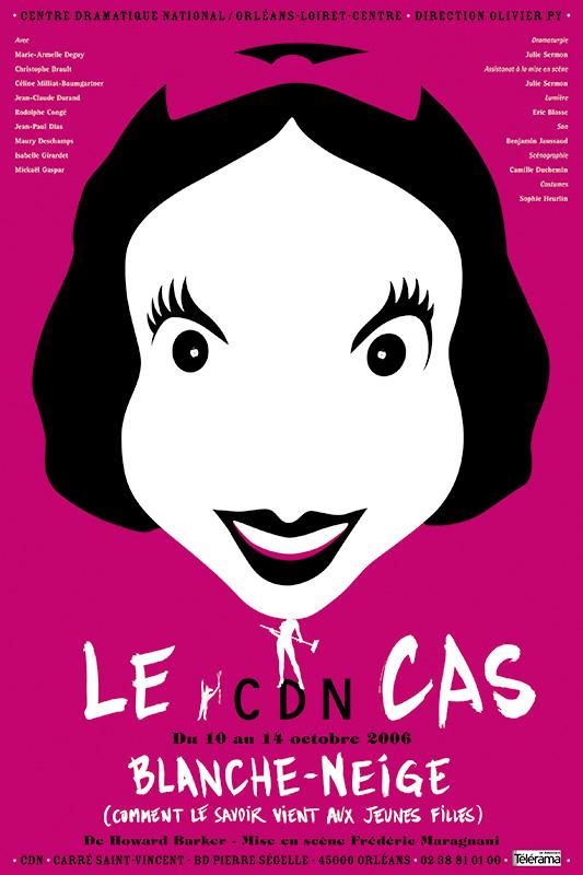 Affiche Poster CDN Orléans - Le cas Blanche-Neige