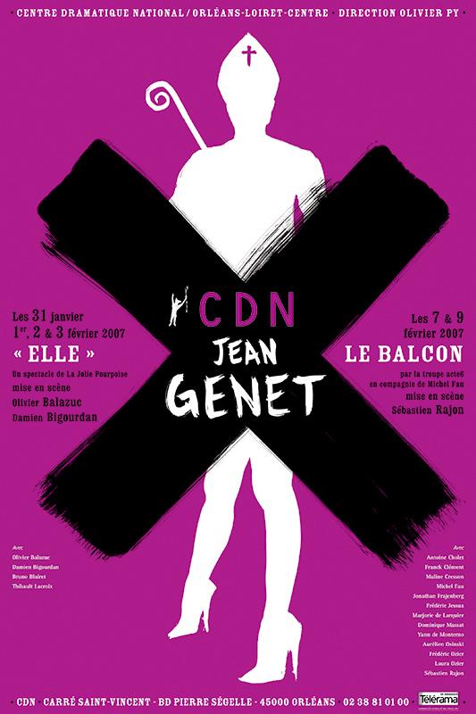 Affiche Poster CDN Orléans - Jean Genet