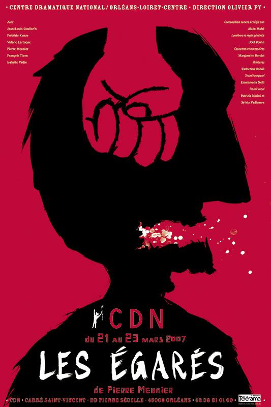 Affiche Poster CDN Orléans - Les égarés