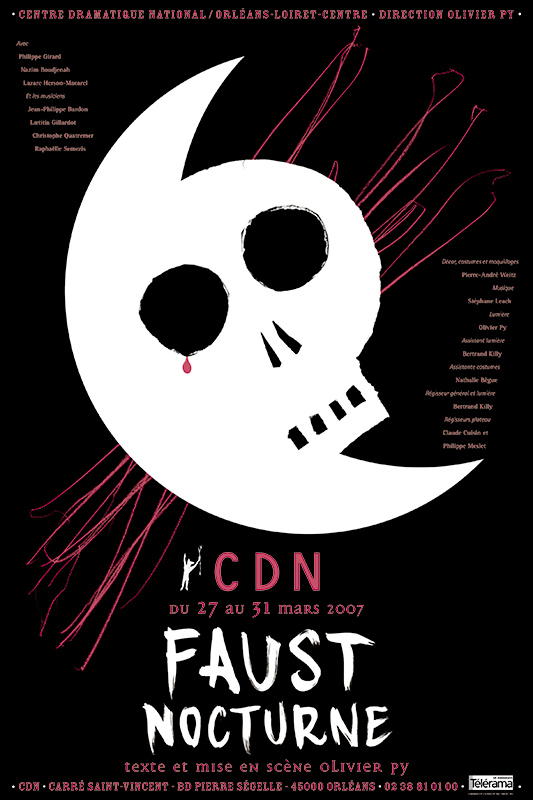 Affiche Poster CDN Orléans - Faust nocturne