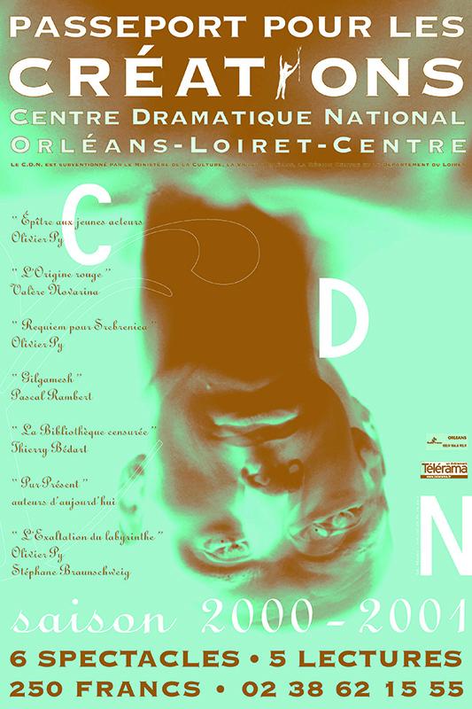 Affiche Poster CDN Orléans - Ouverture saison 2000-01