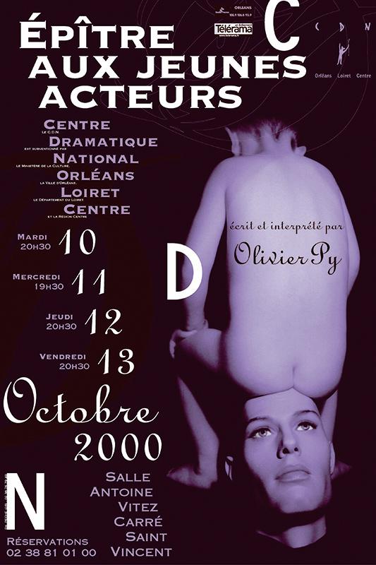 Affiche Poster CDN Orléans - Épître pour les jeunes acteurs