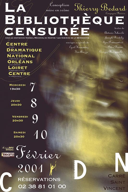 Affiche Poster CDN Orléans - La bibliothèque censurée