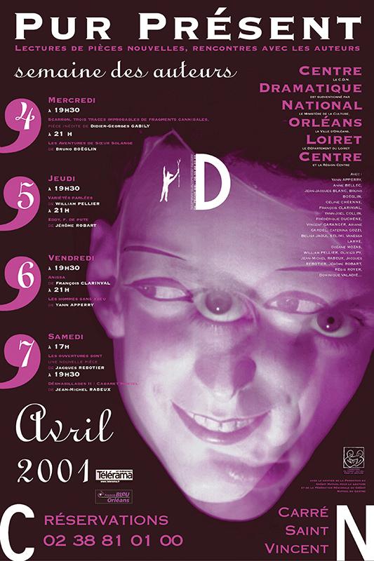 Affiche Poster CDN Orléans - Pur Présent 2001