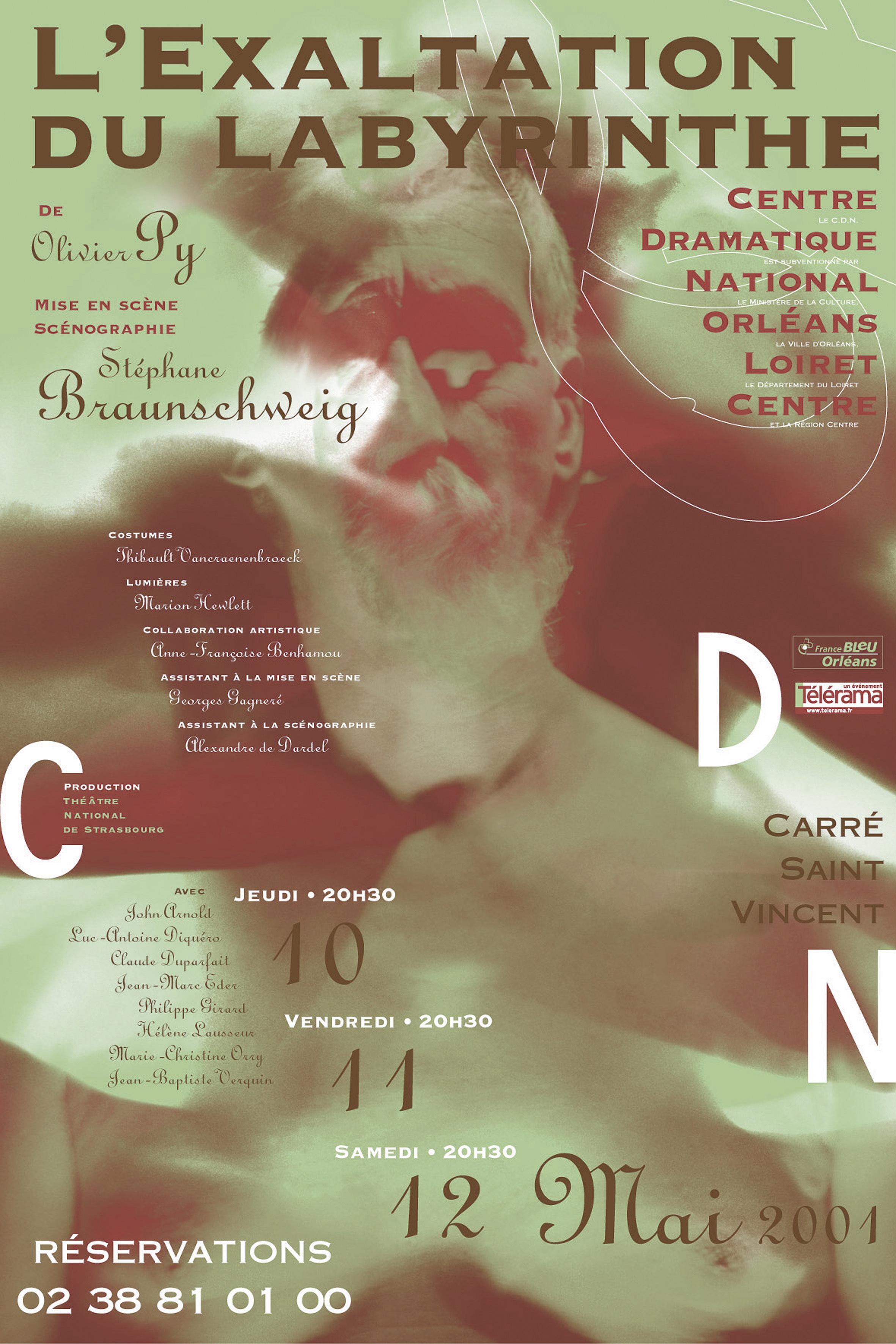 Affiche Poster CDN Orléans - L'exaltation du labyrinthe