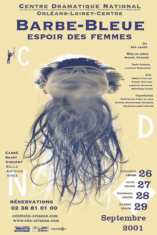 Affiche Poster CDN Orléans - Barbe-Bleue Espoir des femmes