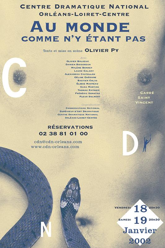 Affiche Poster CDN Orléans - Au monde comme n'y étant pas