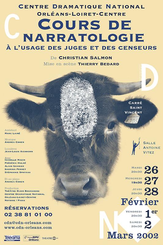 Affiche Poster CDN Orléans - Cours de narratologie à l'usage des juges et des censeurs