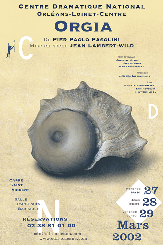 Affiche Poster CDN Orléans - Orgia