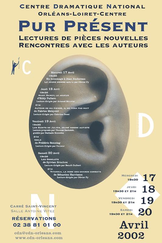 Affiche Poster CDN Orléans - Pur Présent 2002
