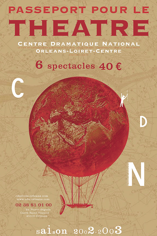 Affiche Poster CDN Orléans - Ouverture saison 2002-03