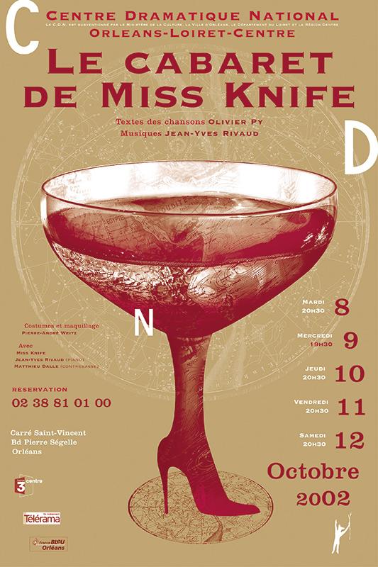 Affiche Poster CDN Orléans - Le cabaret de Miss Knife