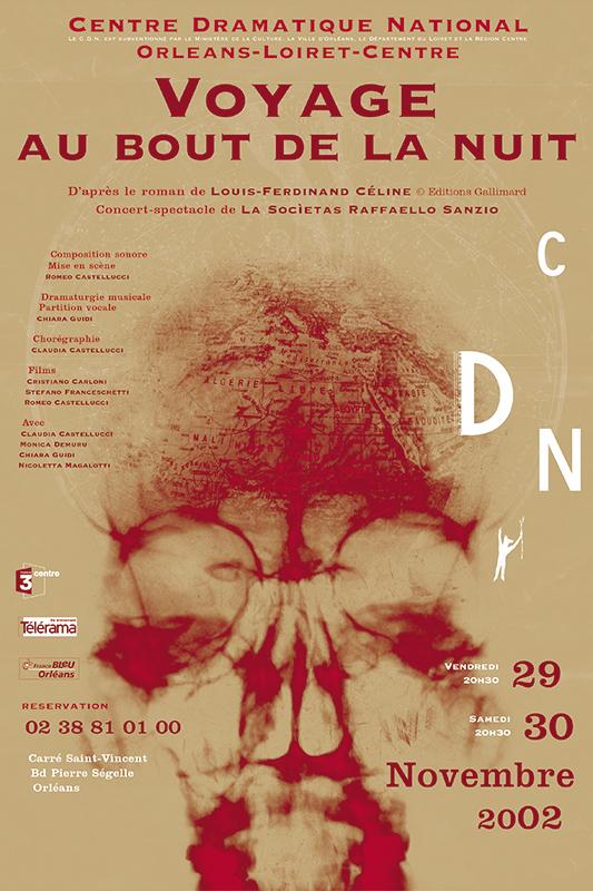 Affiche Poster CDN Orléans - Voyage au bout de la nuit