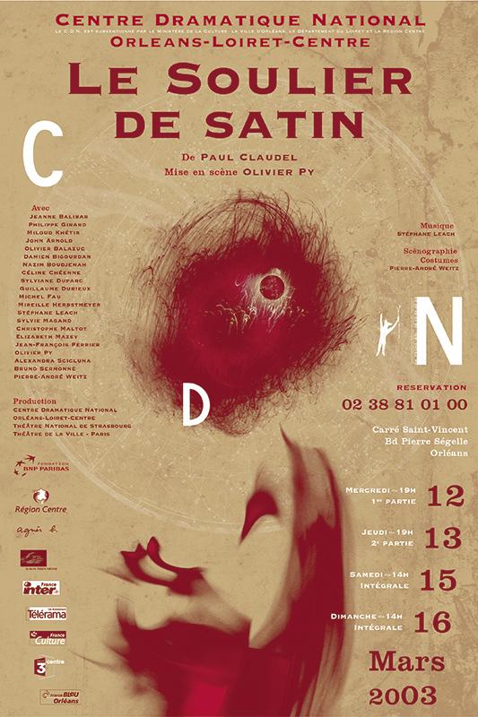 Affiche Poster CDN Orléans - Le soulier de satin