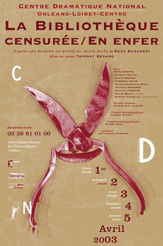 Affiche Poster CDN Orléans - La bibliothèque censurée / En enfer