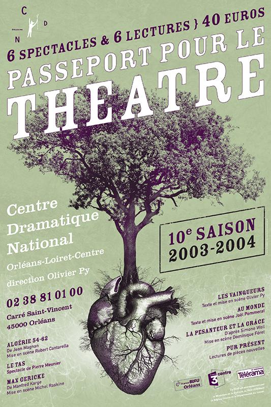 Affiche Poster CDN Orléans - Ouverture saison 2003-04