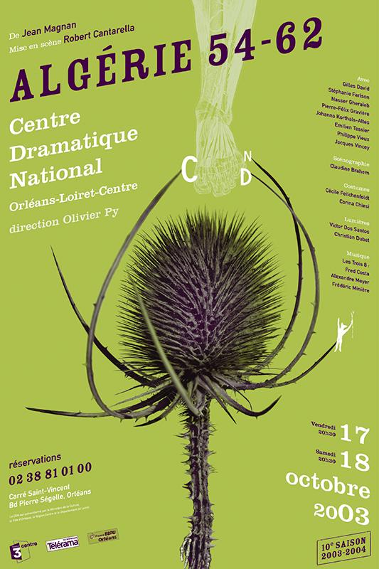 Affiche Poster CDN Orléans - Algérie 54-62