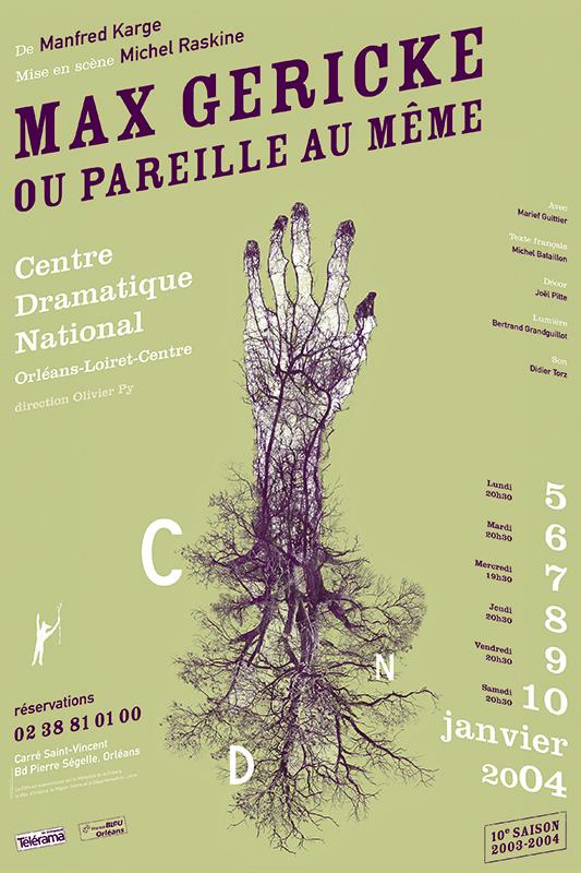Affiche Poster CDN Orléans - Max Gericke ou pareille au même