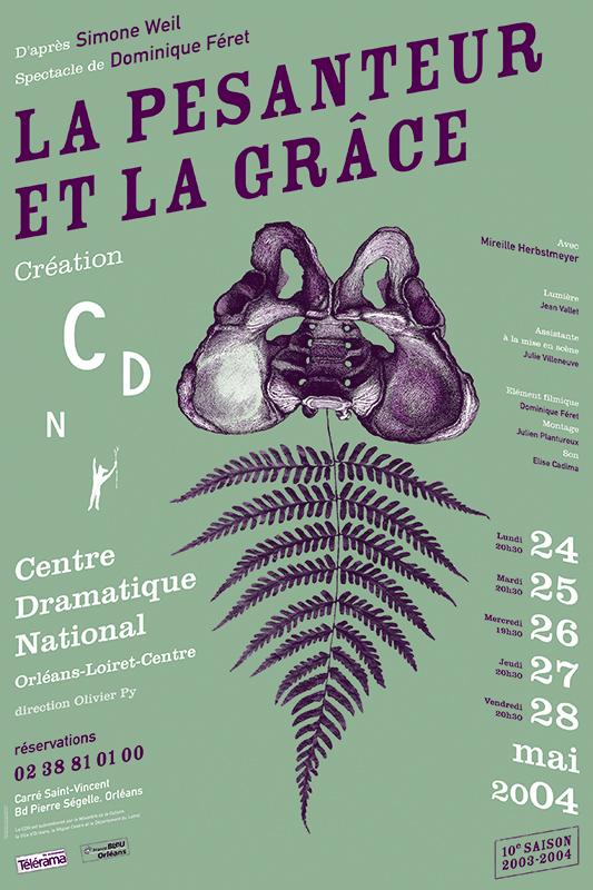 Affiche Poster CDN Orléans - La pesanteur et la grâce