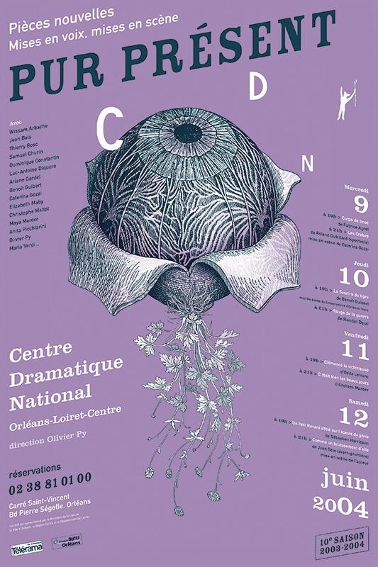 Affiche Poster CDN Orléans - Pur Présent 2004