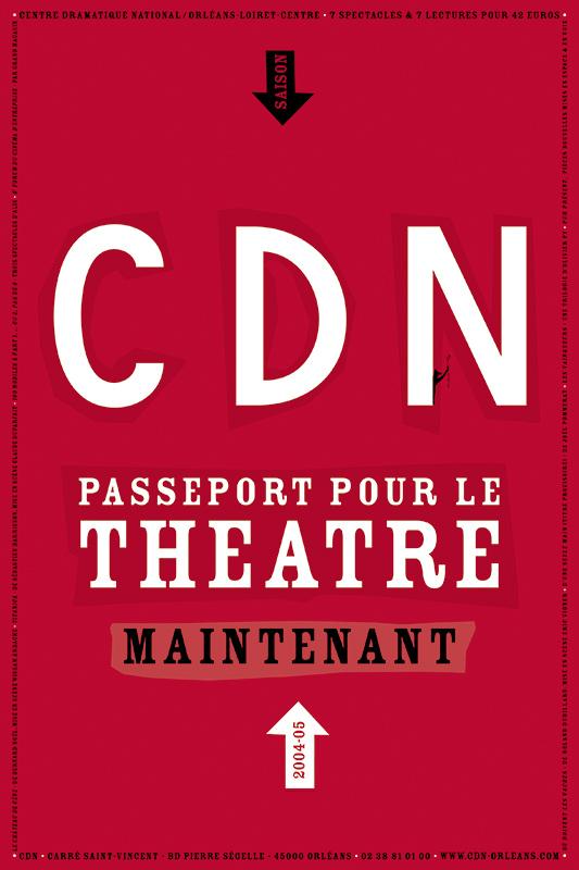 Affiche Poster CDN Orléans - Ouverture saison 2004-05