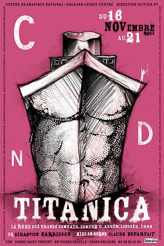 Affiche Poster CDN Orléans - Titanica