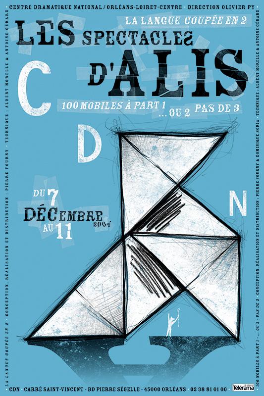 Affiche Poster CDN Orléans - Les spectacles d'Alis
