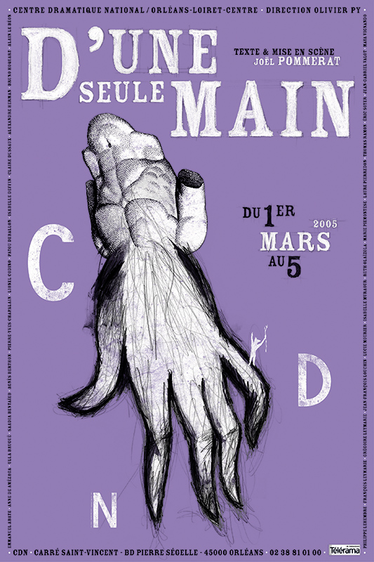 Affiche Poster CDN Orléans - D'une seule main