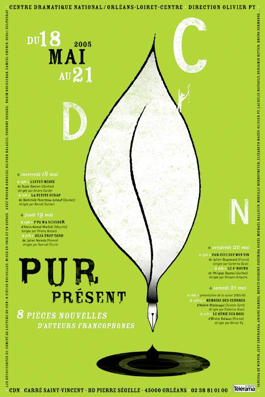 Affiche Poster CDN Orléans - Pur Présent 2005