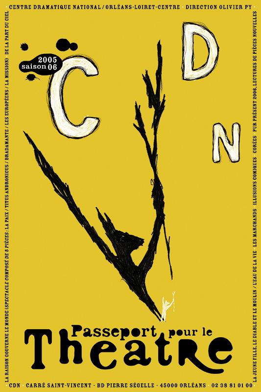 Affiche Poster CDN Orléans - Ouverture saison 2005-06