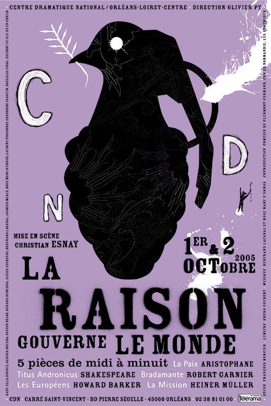 Affiche Poster CDN Orléans - La raison gouverne le monde
