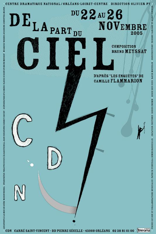 Affiche Poster CDN Orléans - De la part du ciel