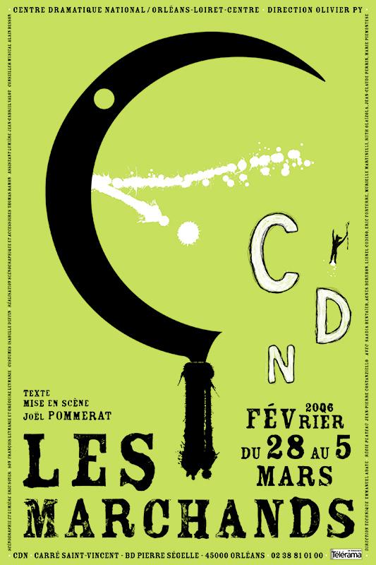 Affiche Poster CDN Orléans - Les marchands