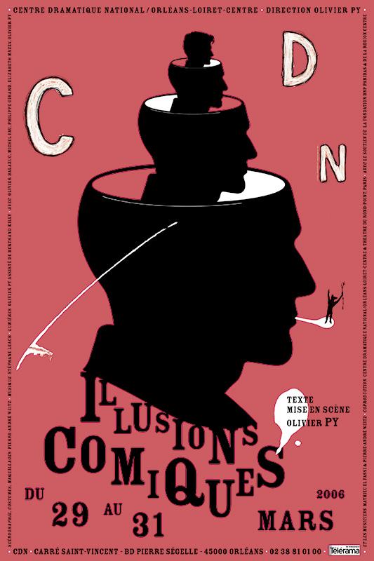 Affiche Poster CDN Orléans - Illusions comiques