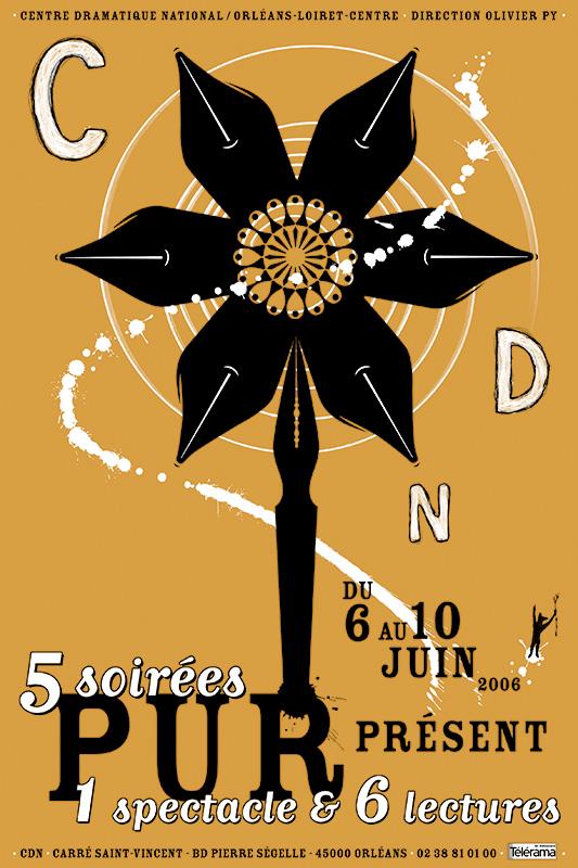 Affiche Poster CDN Orléans - Pur Présent 2006