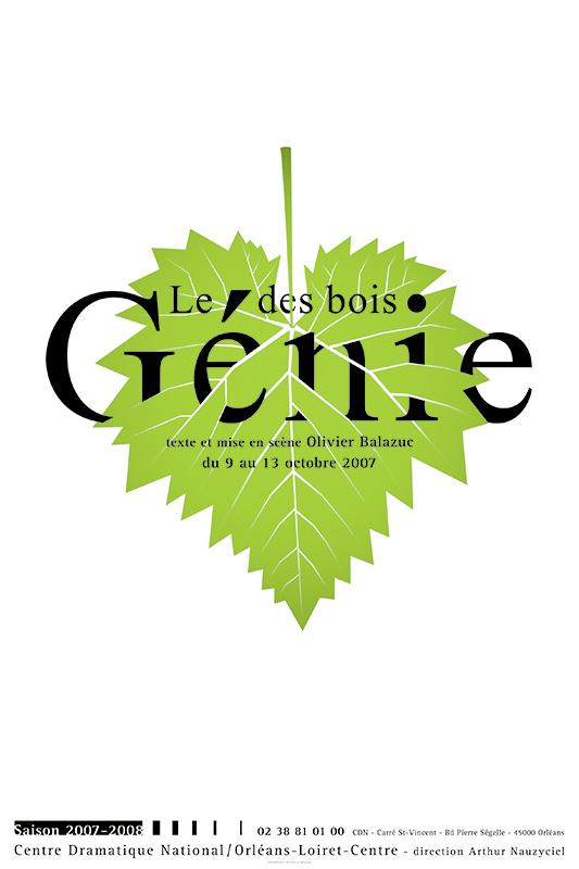 Affiche Poster CDN Orléans - Le Génie des Bois