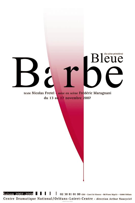 Affiche Poster CDN Orléans - Barbe-Bleue
