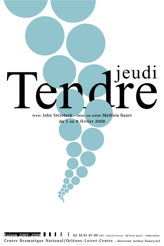 Affiche Poster CDN Orléans - Tendre Jeudi