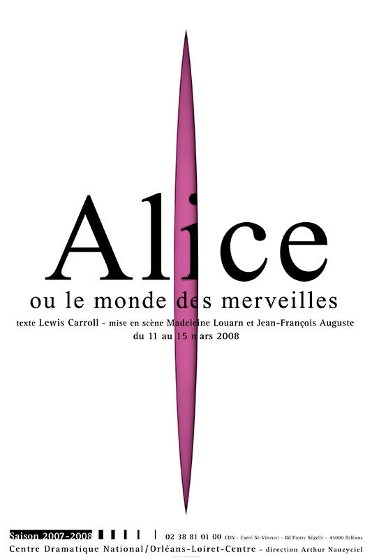 Affiche Poster CDN Orléans - Alice ou le monde des merveilles