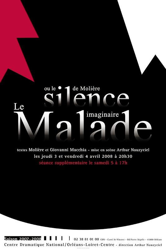 Affiche Poster CDN Orléans - Le malade imaginaire ou le silence de Molière