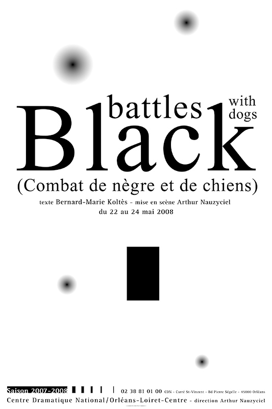 Affiche Poster CDN Orléans - Black battles with dogs