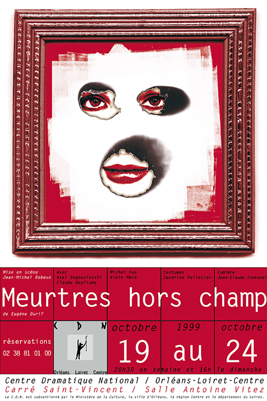 Affiche Poster CDN Orléans - Meutres hors champs