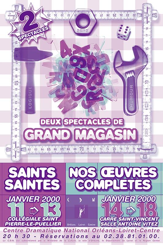 Affiche Poster CDN Orléans - 2 spectacles de Grand Magasin