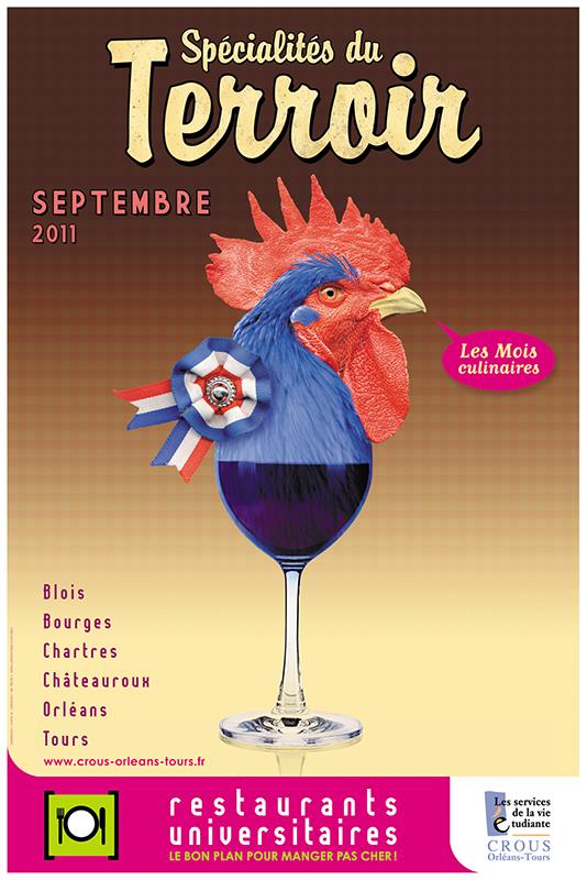 Affiche Poster CROUS Orléans Sept 2011