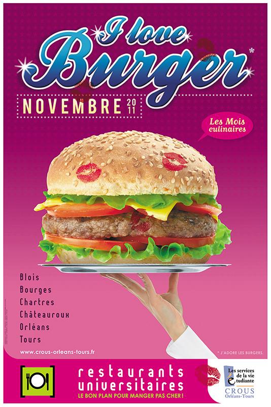Affiche Poster CROUS Orléans Nov 2011