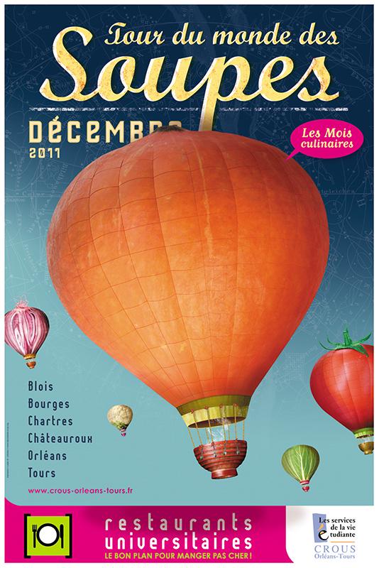 Affiche Poster CROUS Orléans Dec 2011