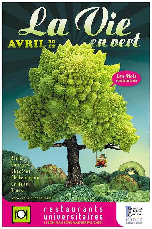 Affiche Poster CROUS Orléans Avril 2012