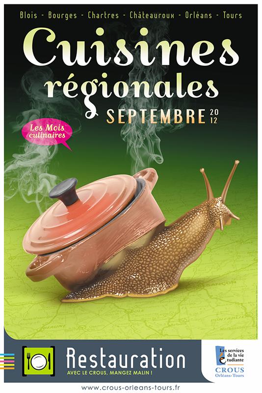 Affiche Poster CROUS Orléans Sept 2012