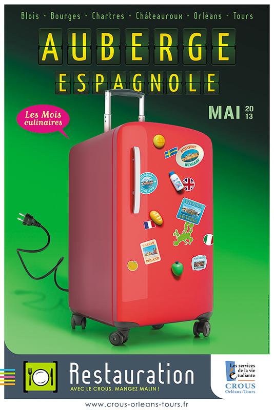 Affiche Poster CROUS Orléans Mai 2013